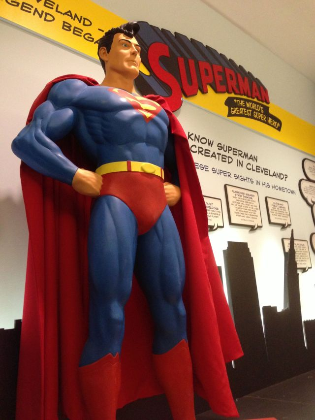 Superman at the Cleveland Airport