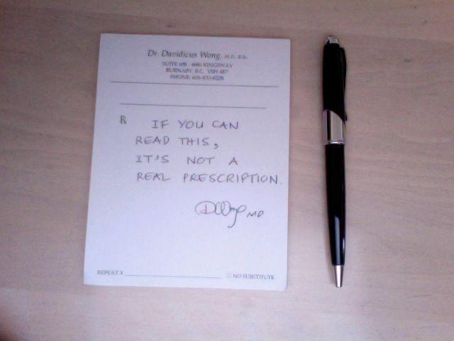 Prescription by Davidicus Wong