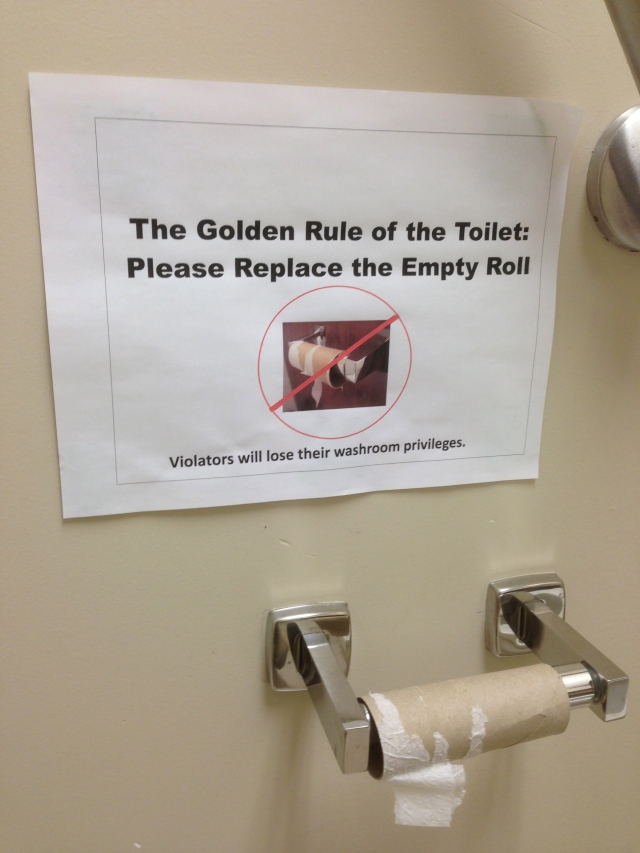 The Golden Rule of the Toilet - by Davidicus Wong