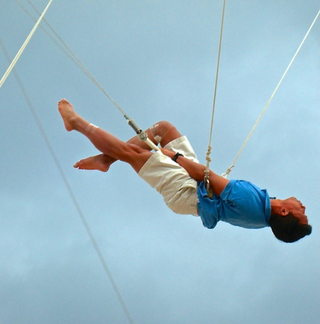 On the flying trapeze