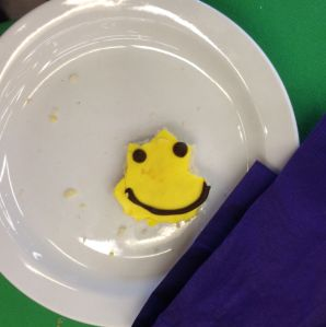 Leftover Happy Face Cookie